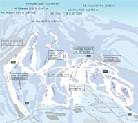 Akakura Onsen Ski Trail and Piste Map - Myoko Ski Trail Maps