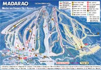 Madarao Kogen Ski Trail Map
