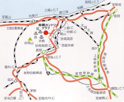 Myoko Ski Park map