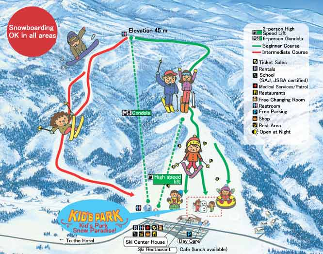 Myoko Pine Valley Ski Map