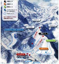 Seki Onsen Ski Trail Map