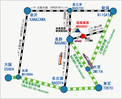Madarao Kogen access map
