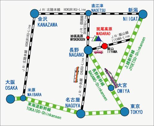 Madarao Kogen access map
